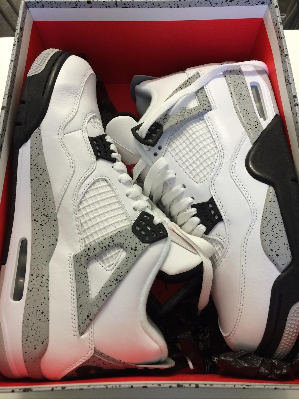 Nike Air Jordan 4 White Cement Us 10 - photo 1/3