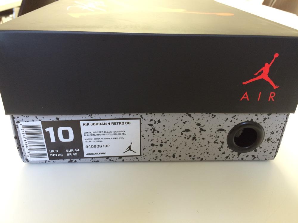 Nike Air Jordan 4 White Cement Us 10 - photo 3/3