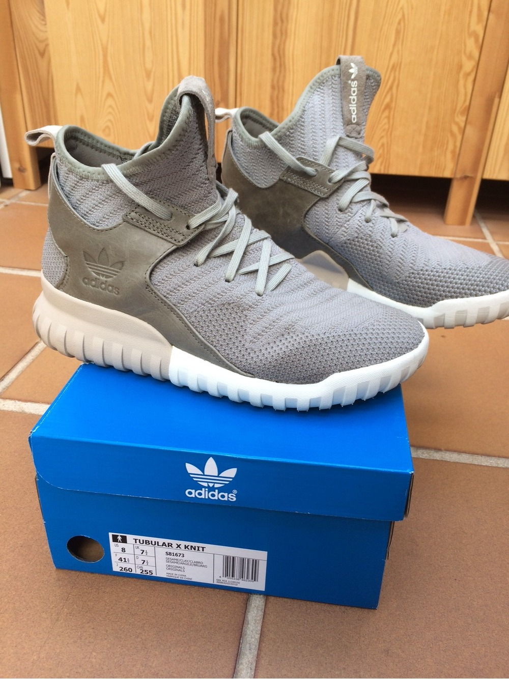 Adidas Originals Tubular X Primeknit Trainer Clear Granite Drome