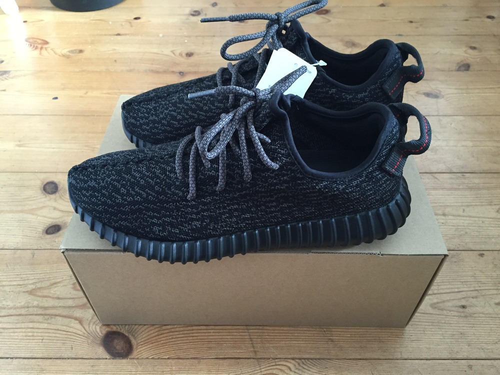 Mens adidas Yeezy 350 Boost V 2 Black White By 1604 US 6