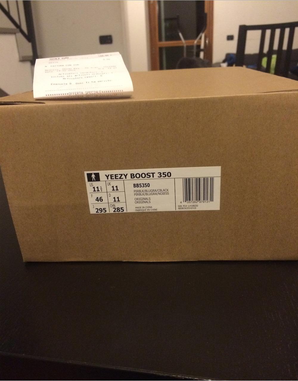 adidas Yeezy 350 Boost V2 Cream Black