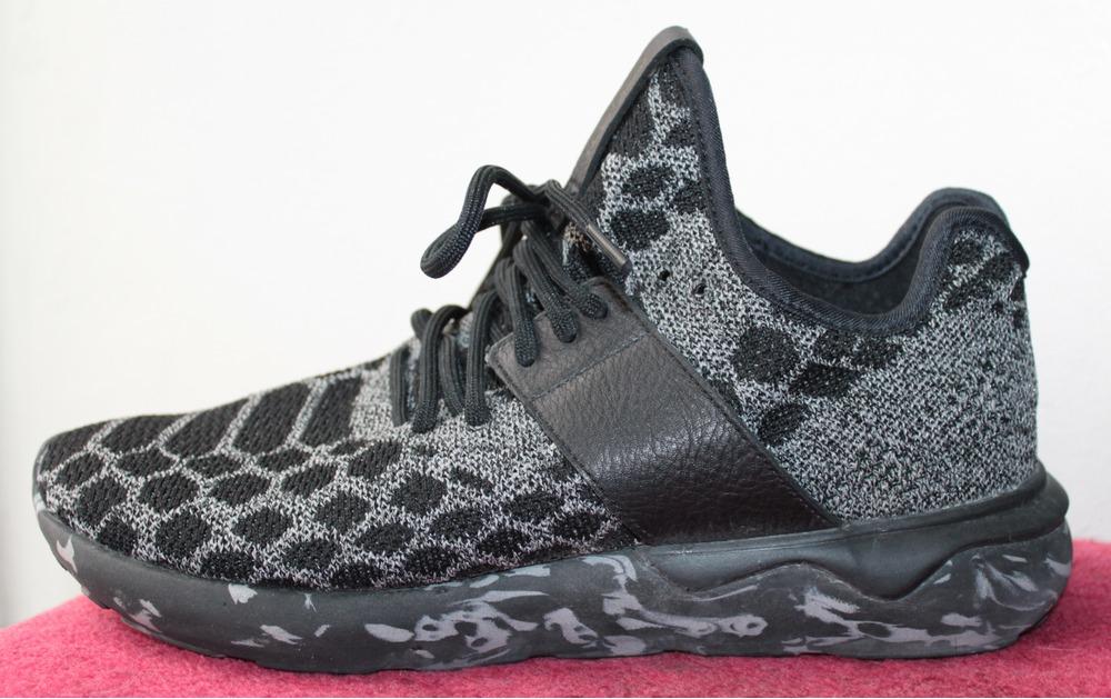 adidas Originals Grey Tubular Radial Textile Suede SNEAKERS