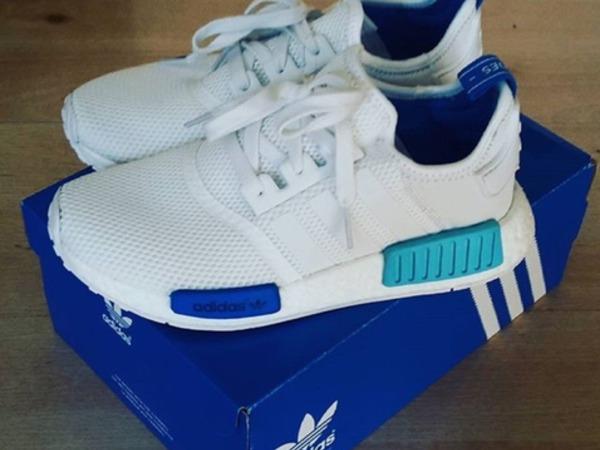 enuspu Adidas NMD White Blue ptmgardening.co.uk