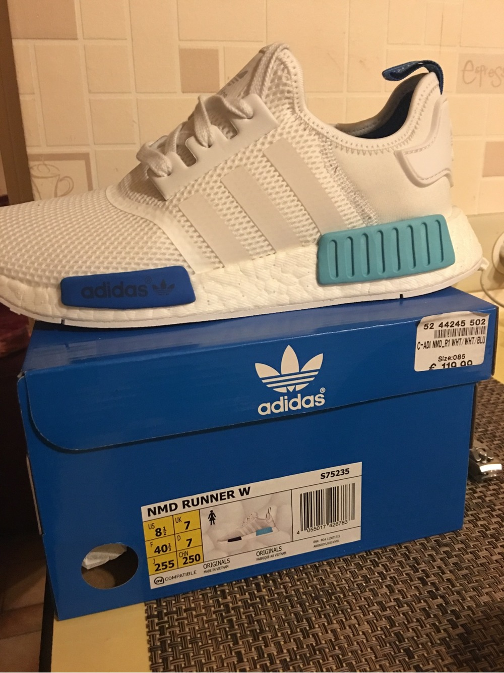 glazsc Adidas NMD White Blue Buy ptmgardening.co.uk