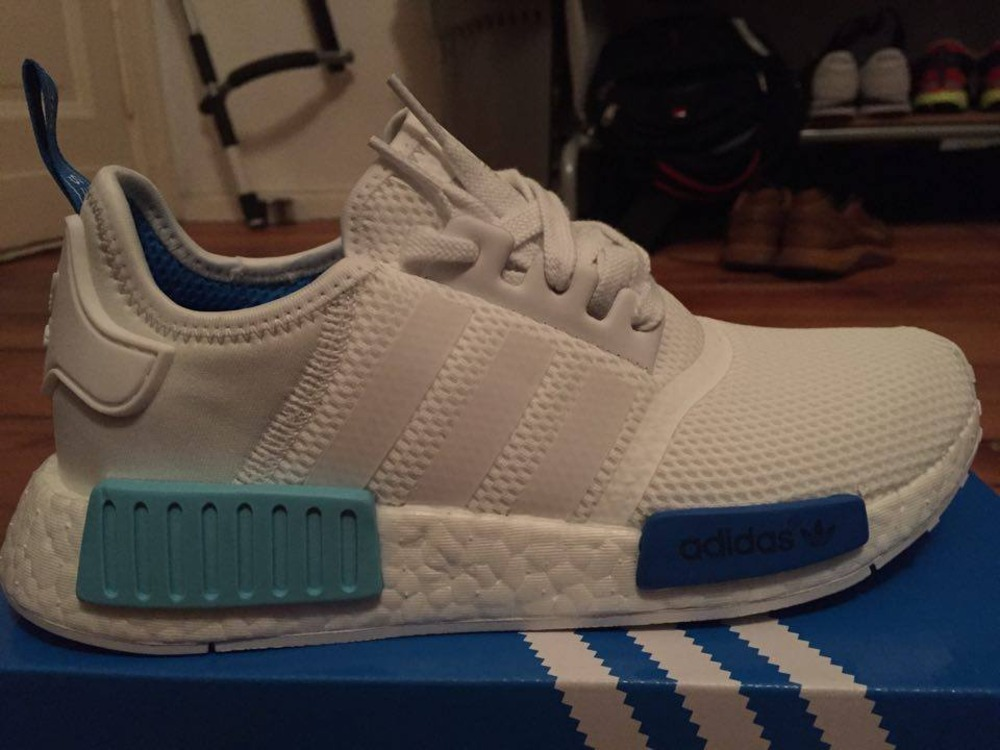 bosblb Adidas NMD R1 White Blue (#314949) from hozenplotz at KLEKT