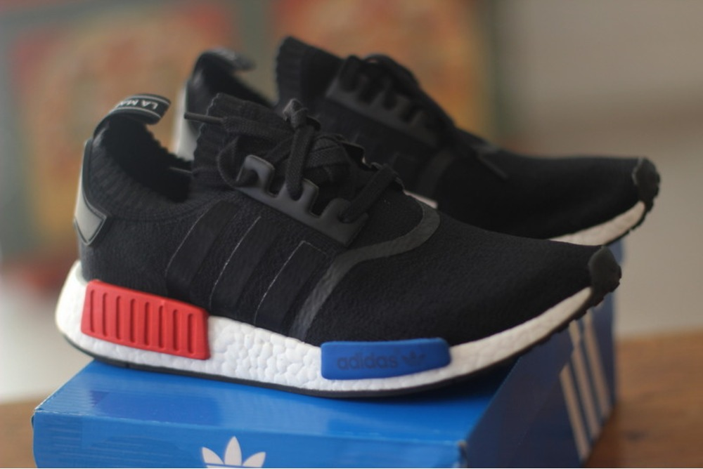 Low Price Cheap Adidas Canada NMD Runner J Black Blue White Mens