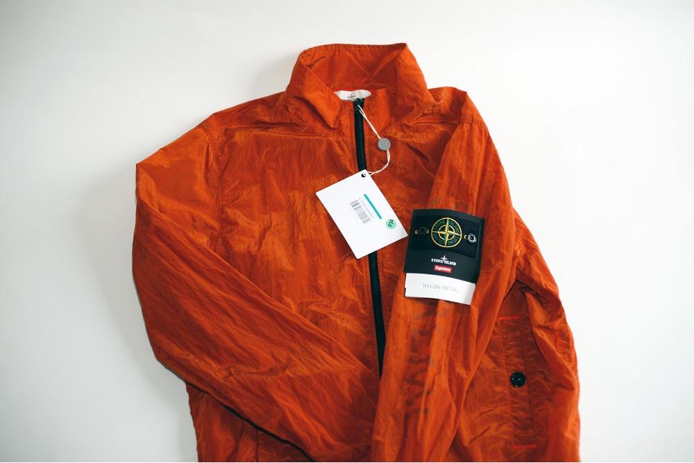 Supreme Stone Island Orange Metal Pants