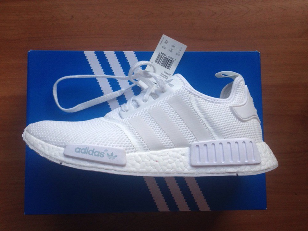Adidas NMD R1 Gum Pack White Black Primeknit Shoes