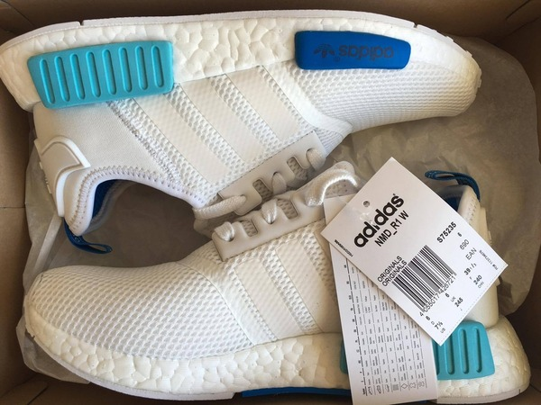 dedogn Adidas NMD White Blue Glow ptmgardening.co.uk