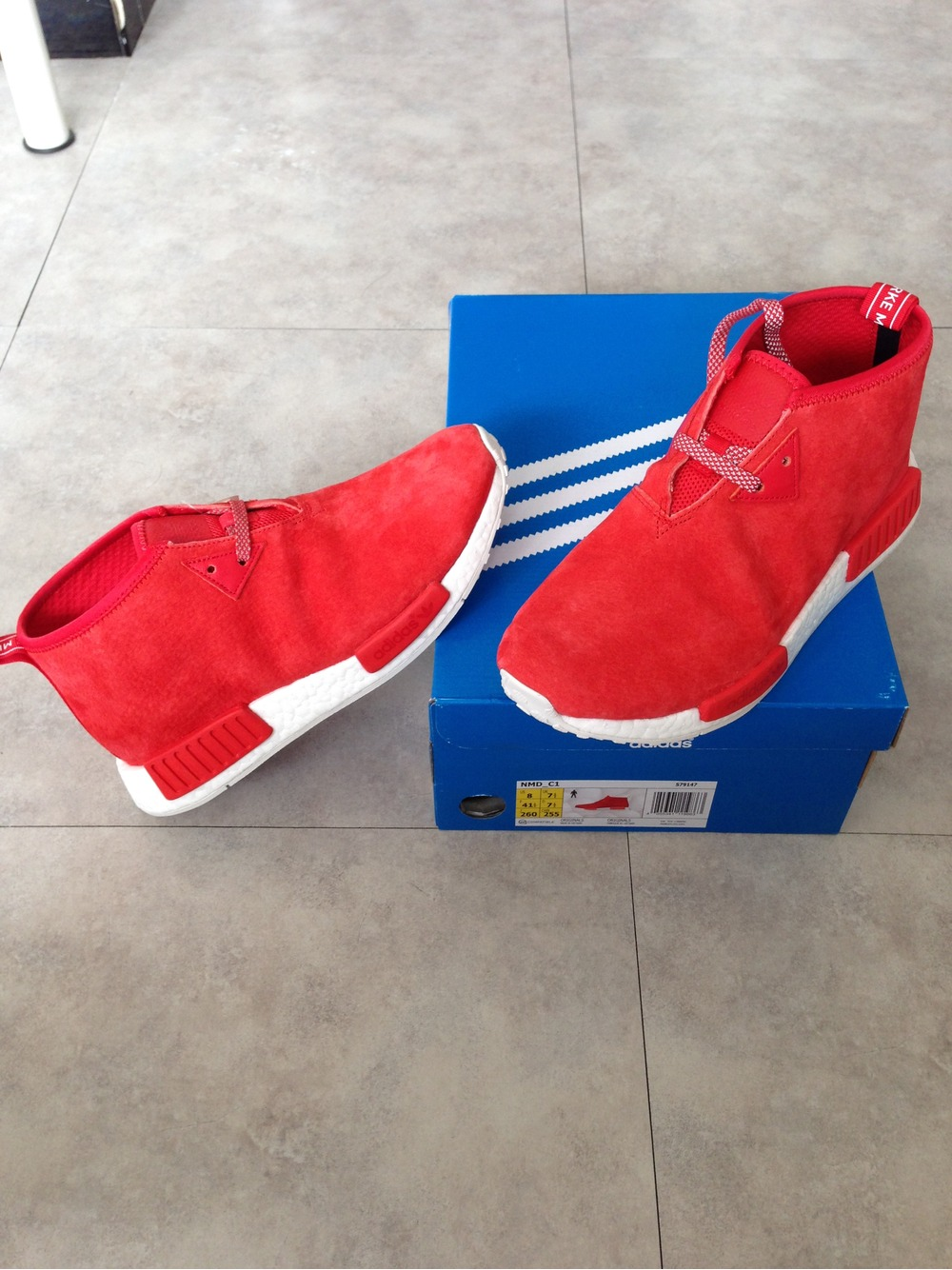 Cheap Adidas x White Mountaineering NMD Trail PK (red / blue) BA7519