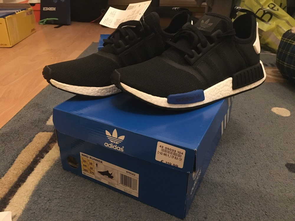 Adidas NMD R1 PK OG (Core Black / Lush Red) Size 7.5 W / Receipt