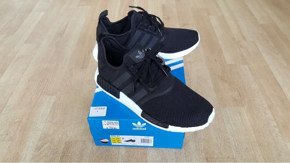 Custom Adidas NMD R1 Limted Shoes Size 9 UK (EUR 43) Black .