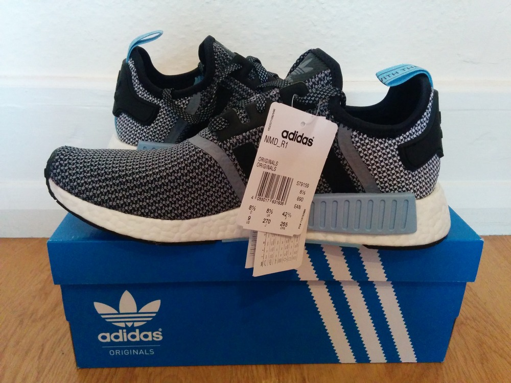 Adidas Nmd Core Black Clear Blue