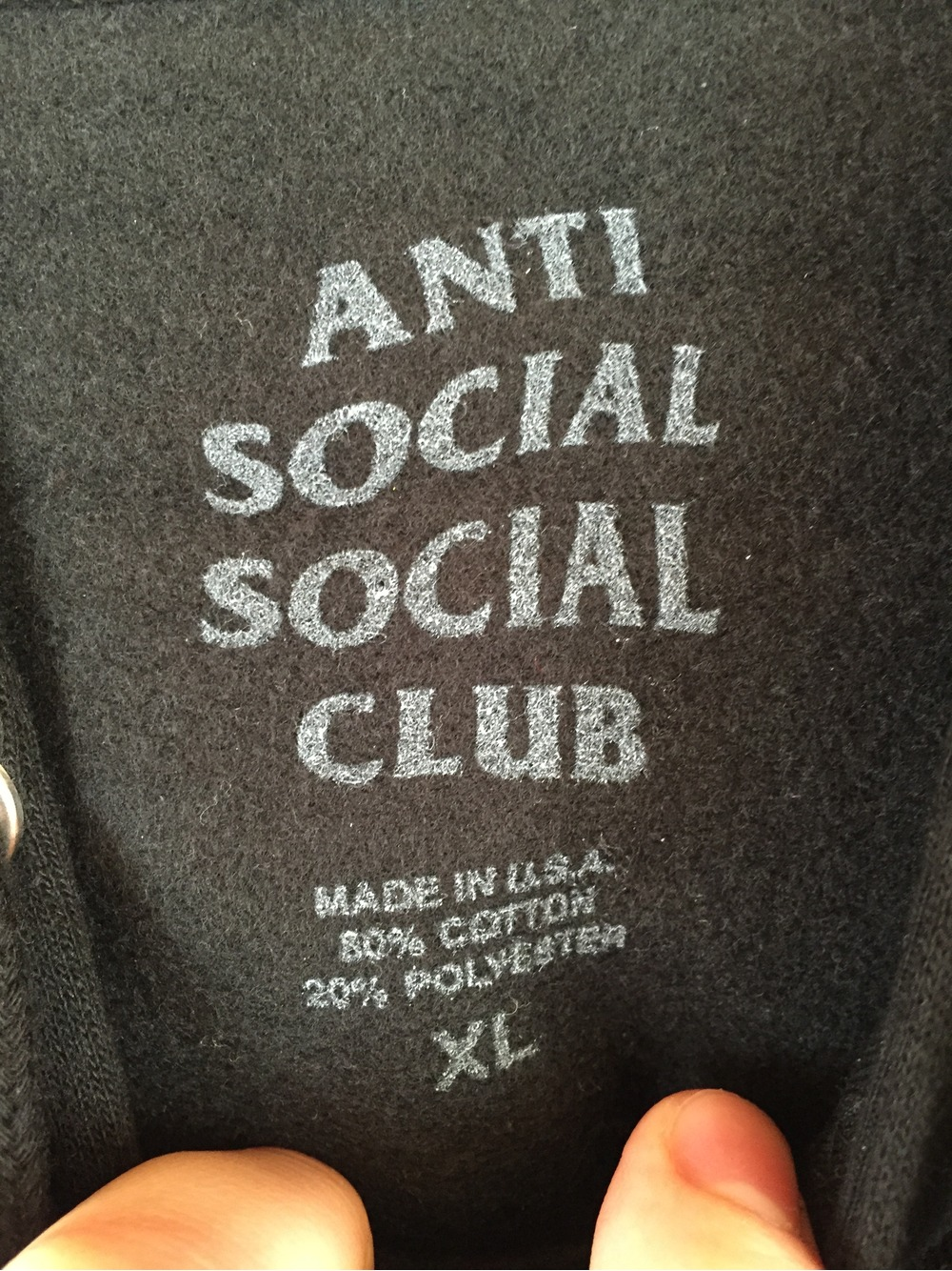 Anti social social club mind games hoodie ds condition new and never worn