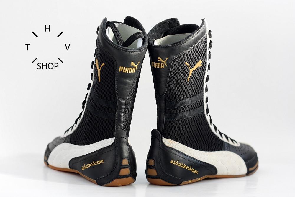 NOS Puma Boxing Schattenboxen 2001 boxing wrestling combats boots OG  vintage leather - photo 5/