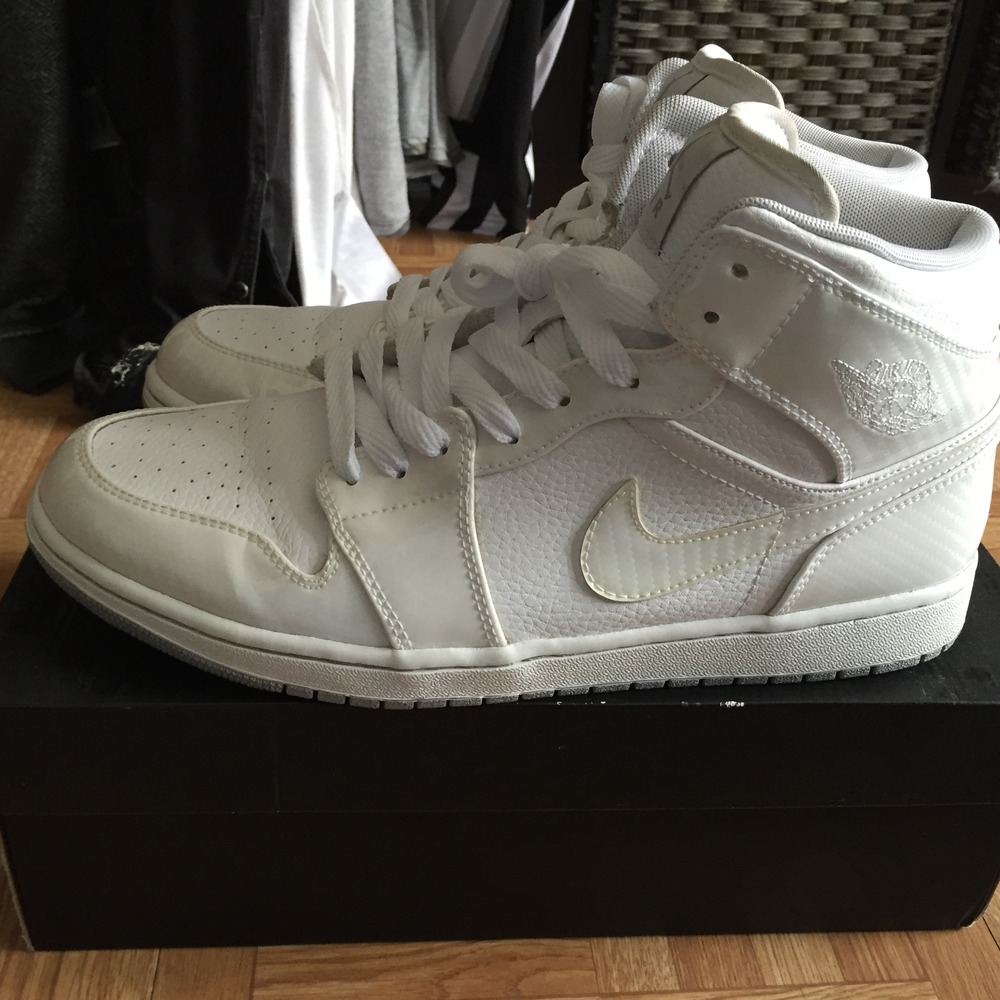 ... Air Jordan Air Jordan 1 Phat Carbon Fiber White - photo 24 c98a921532