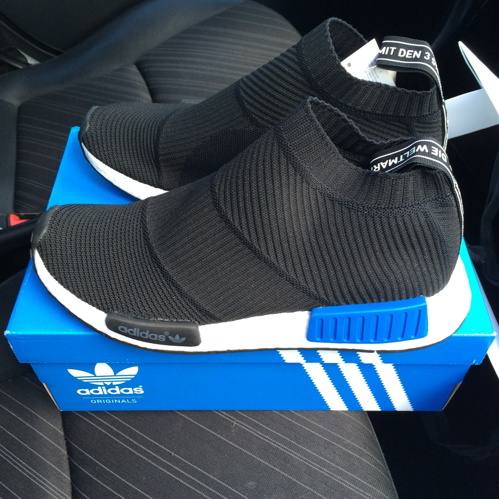 Cheap Adidas NMD PW Human race blue size US 9.5 EU 43 1/3 (#849548