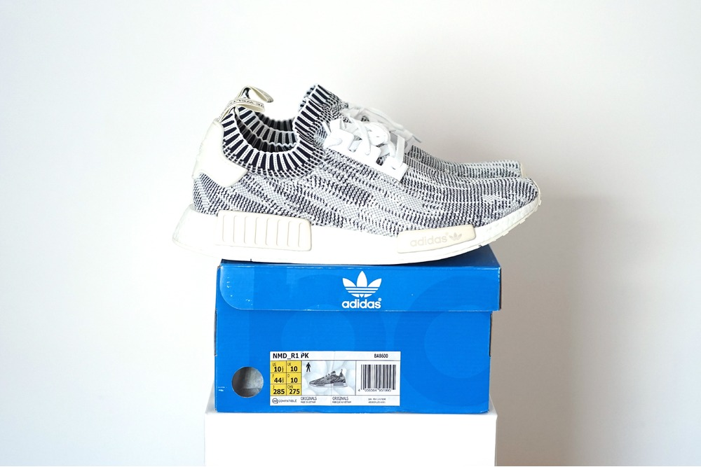 hkegmi Adidas NMD Runner R1 PK BA8600 Legend Blue Clear Onyx White Grey