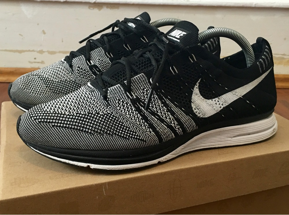 1264611f2940 ... promo code for nike flyknit trainer eu425 us9 kanye yeezy nmd black  white 6bd31 59401