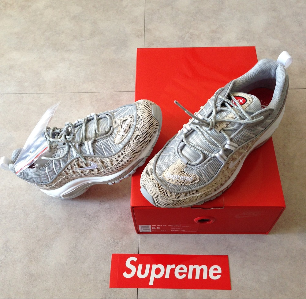 eb898721361 supreme x nike air max 98 sail