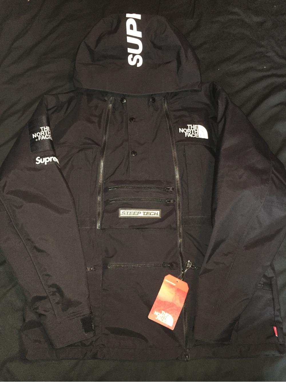 supreme north face steep tech. supreme x the north face steep tech jacket ss16 black photo 1 supreme north face steep tech a