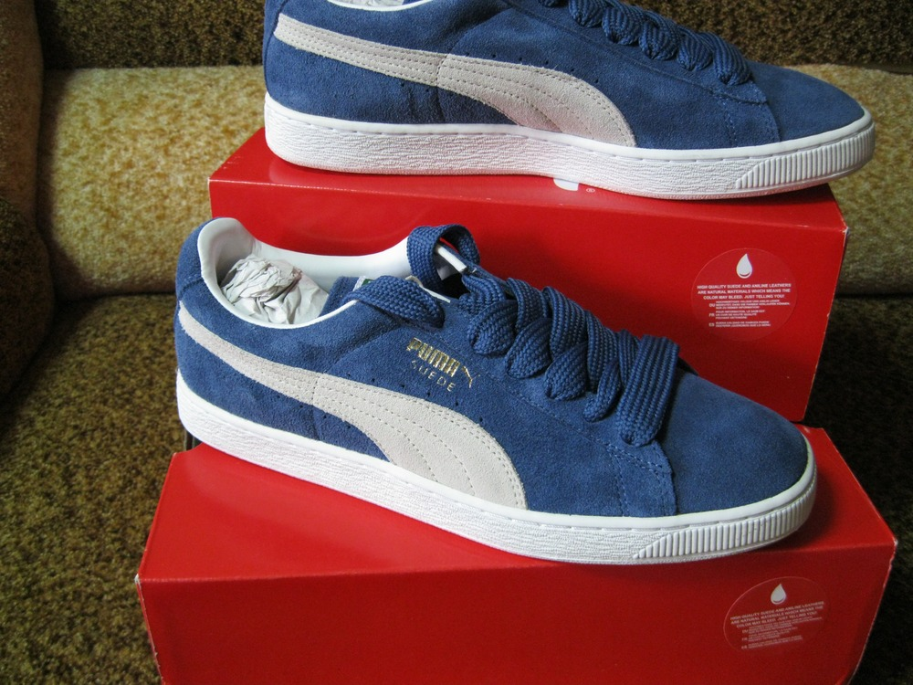 Puma Suede Classic Eco Mens Blue Lace Up Sneakers Shoes Size 12us 11uk 46eu  30cm 352634
