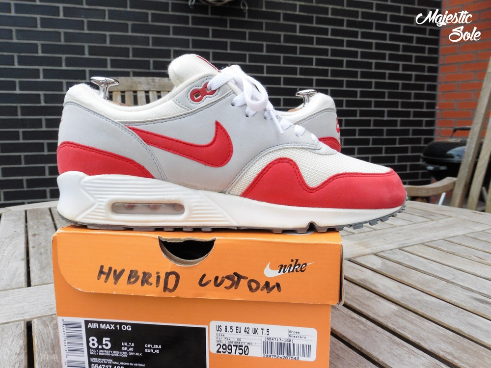 Nike Air Max 1 Hybrid (2012) Sole Swapped By Majestic Sole - photo 3