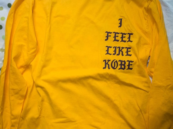 KANYE WEST - FEEL LIKE KOBE LONG SLEEVE T-SHIRT - M - photo 1/5