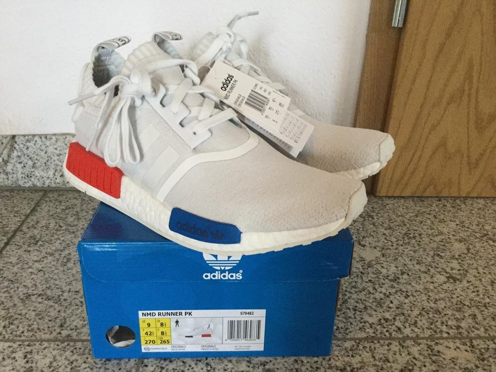 zdppok DS Adidas NMD Runner PK White OG US 9 S79482 Camo Primeknit
