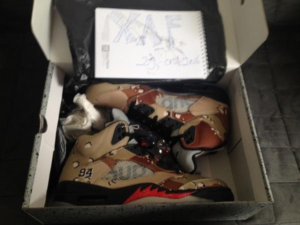 Jordan Jordan x Supreme 5s Jordan 5's - photo 1/9