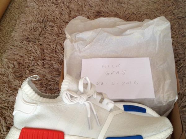 Adidas NMD Runner PK, White, Size 9 UK - photo 1/4