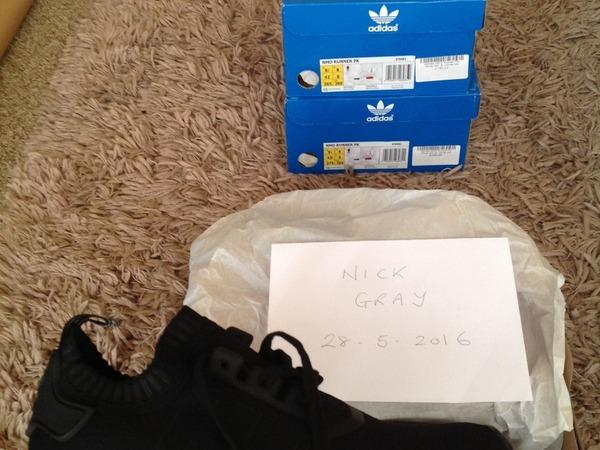Adidas NMD Runner PK, OG black, Size 8 UK - photo 1/8