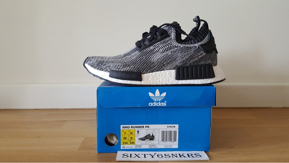 unmnkl Adidas NMD Runner PK Oreo Glitch (#371814) from Sixty6snkrs at KLEKT