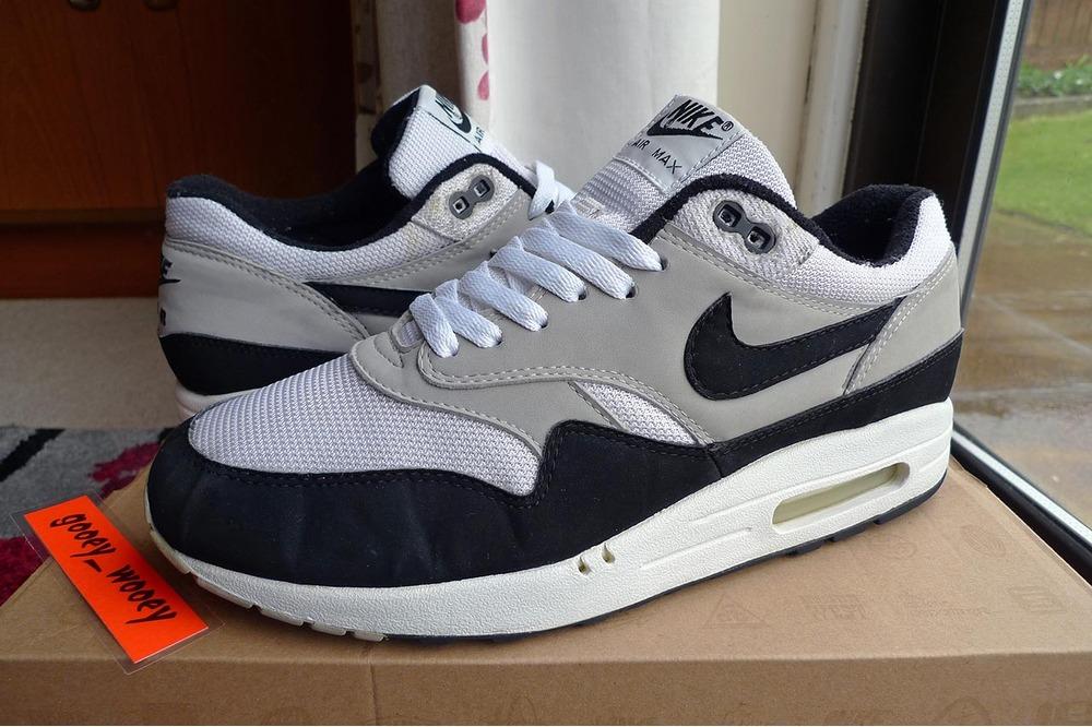 Nike Air Max 1 Original Mesh 1999 OG Black White Grey UK8.5 US9.