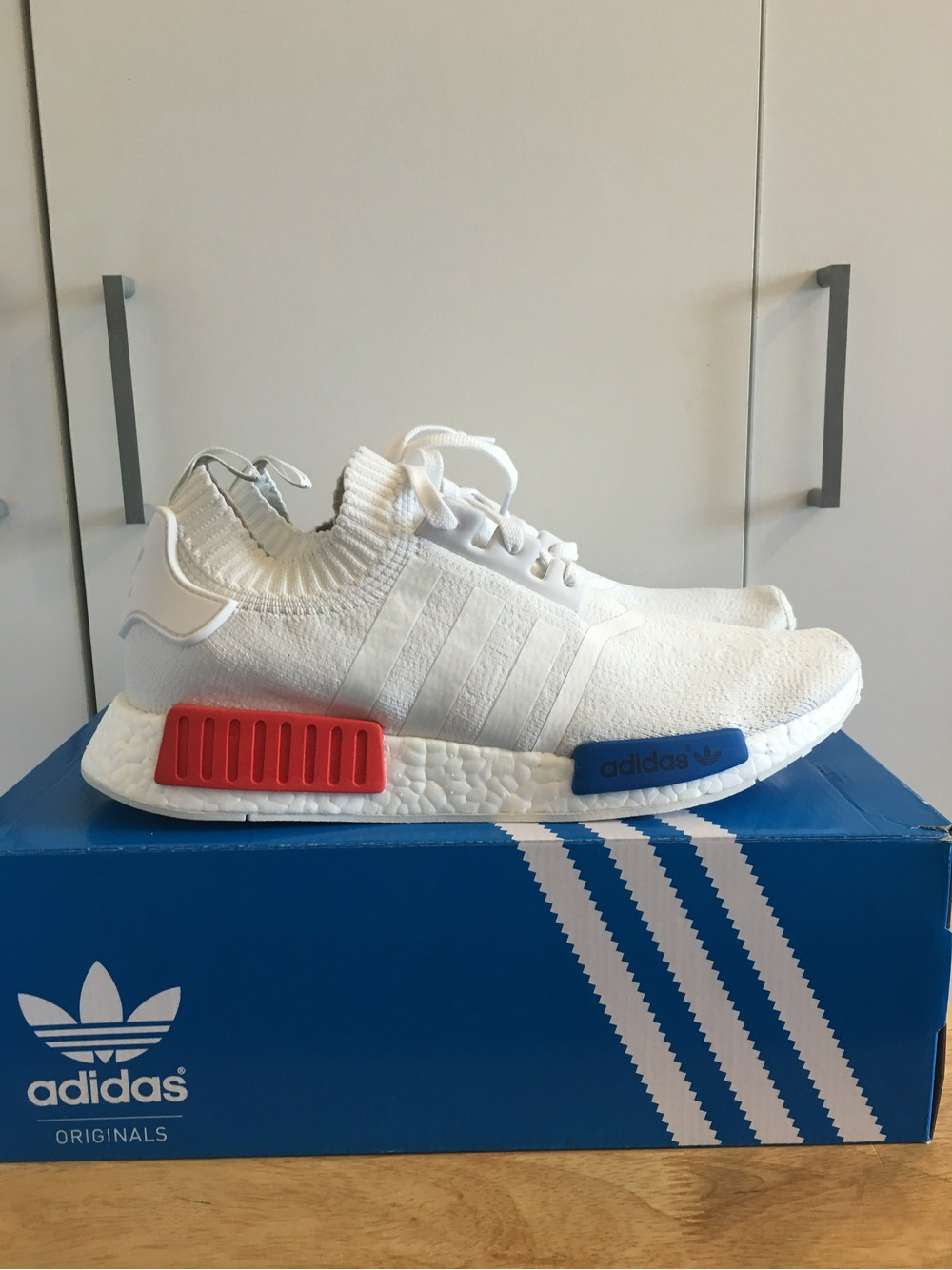 Adidas Nmd R1 Prime Knit Ice Blue White Hers trainers Office