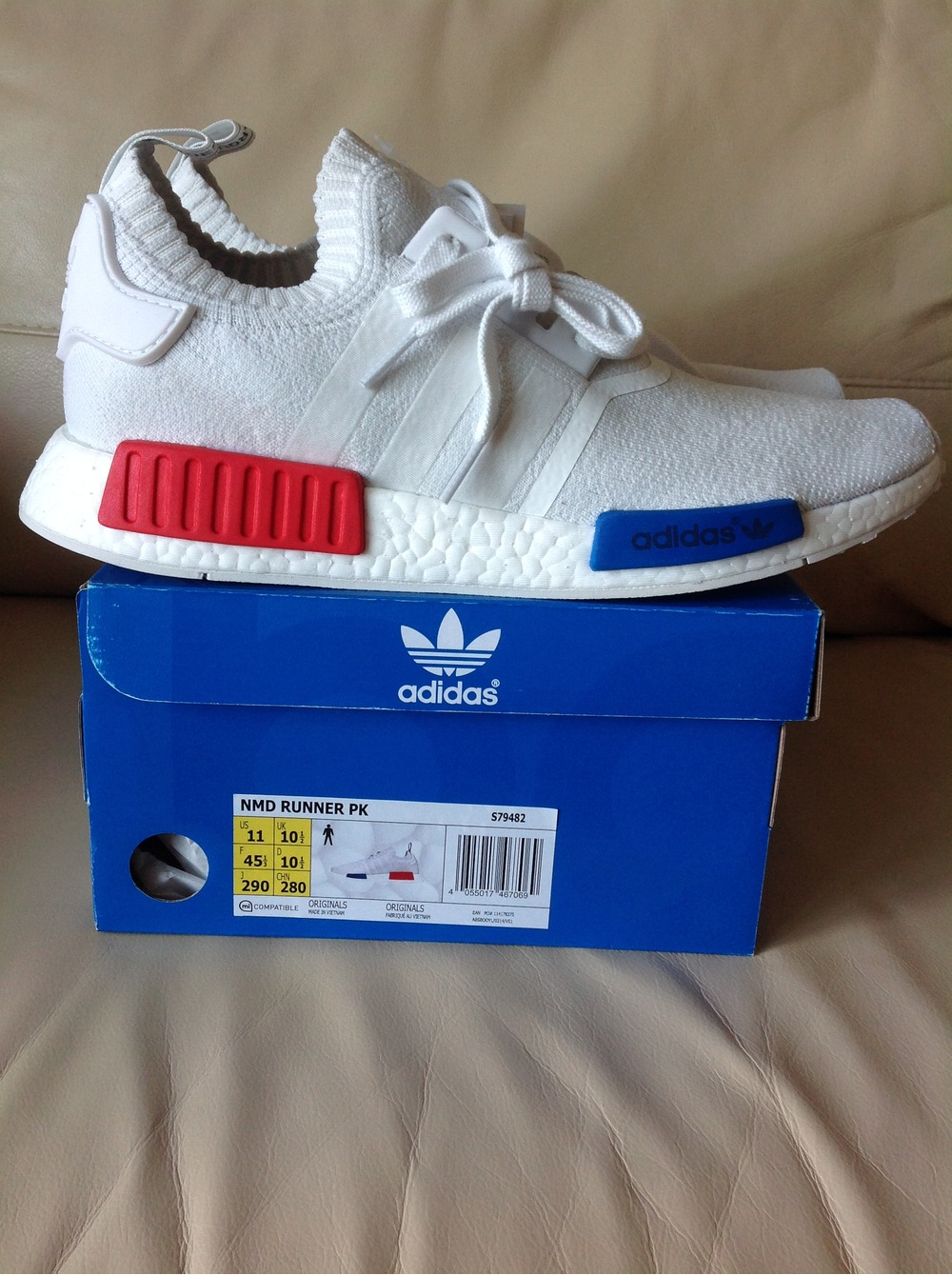 Adidas NMD R1 Primeknit White and Gum Loose Cannon Flagship