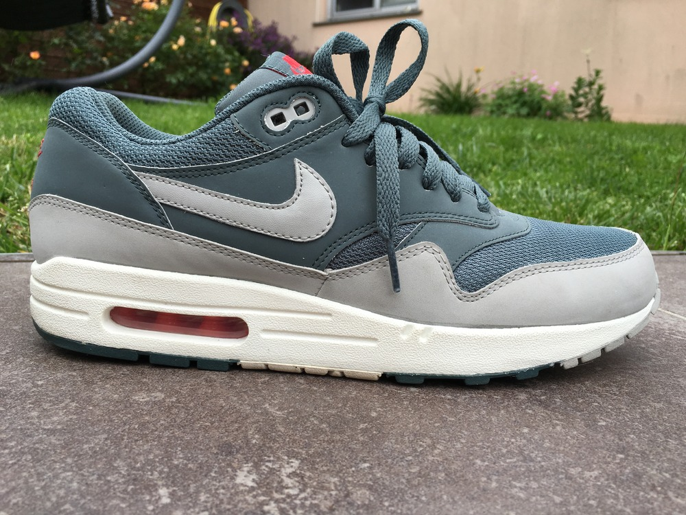 Nike air max 1 essential hasta granite sail sunburst grey