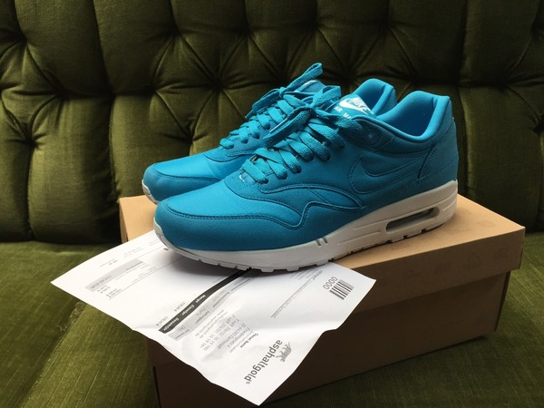 Nike Air Max 1 Dynamic Blue (90 Infrared Hyperfuse Safari) US9,5 - photo 1/7