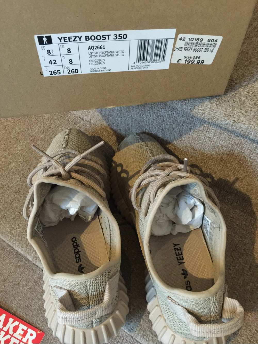 Cheap Adidas Yeezy 350 Boost Light Stone / Oxford Tan Light Stone AQ2661