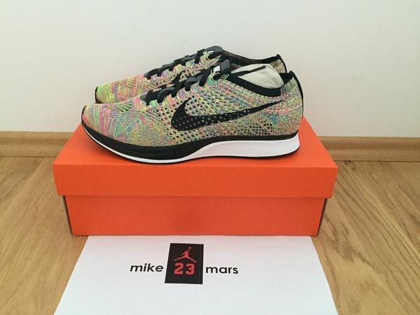 Nike flyknit racer Multicolor 3.0 Rainbow - photo 1/6