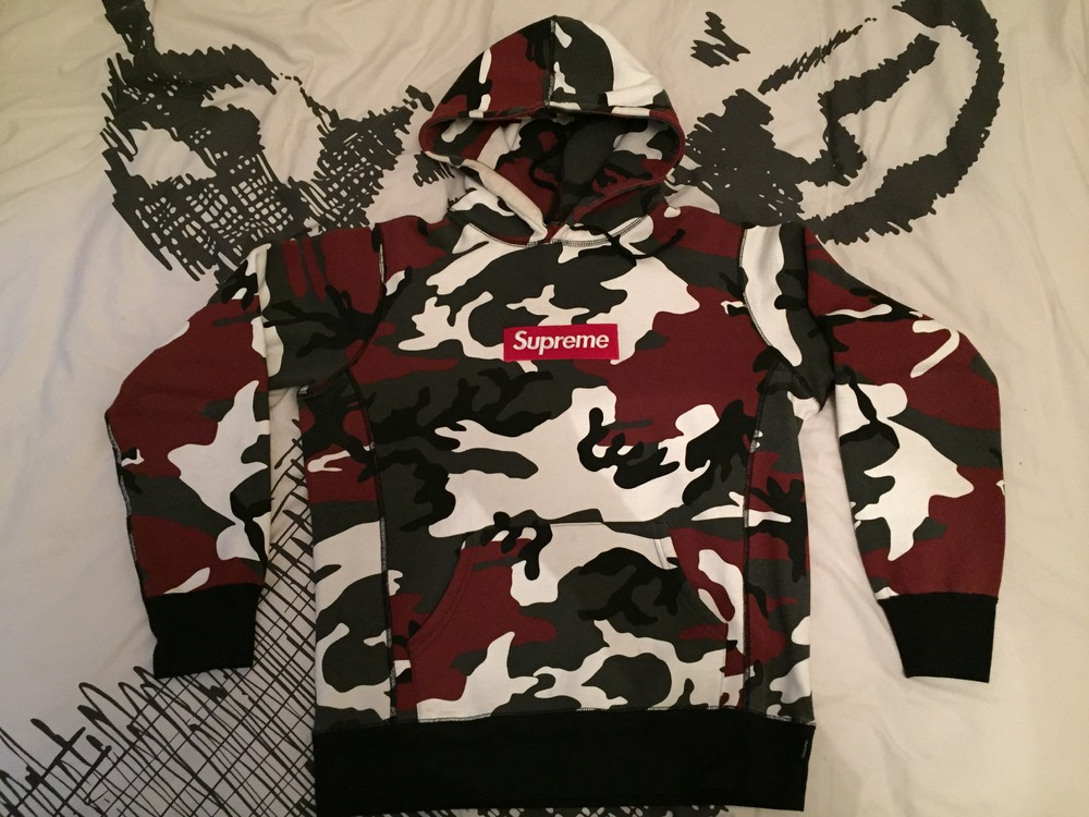 Supreme Box Logo hoodie Urban Camo (#473549) from Lolo at ...