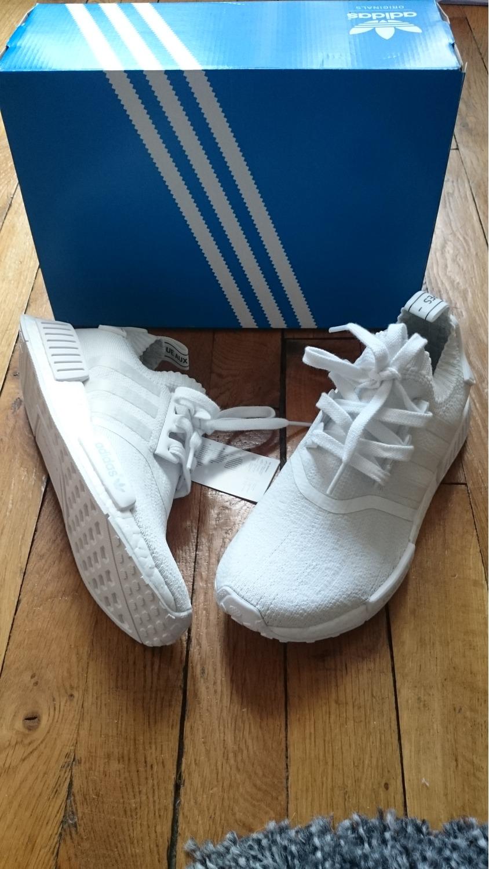 Adidas Nmd R1 Pk White Grey Camo Ba8600 Glitch Primeknit Boost