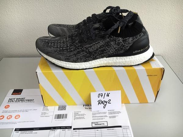 Adidas Ultra Boost Uncaged . Black Schwarz . DS . US 10.5 & 11 EUR 44 2/3 & 45 1/3 . NEW - photo 1/9