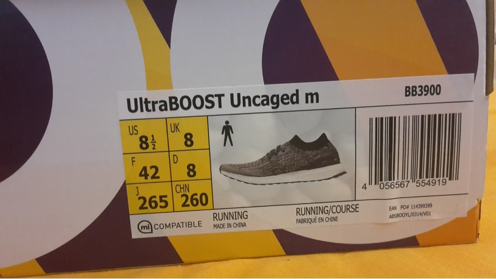 Adidas Ultra Boost Uncaged Box