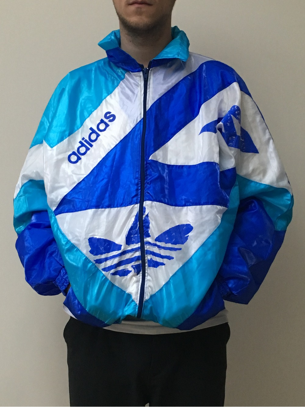 Adidas Vintage Windbreaker Bomber Jacket U0026quot;Made In W.Germanyu0026quot; (#438848) From Martin At KLEKT