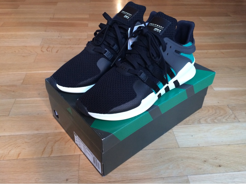 Adidas EQT Support '93 (Core Black, Sub Green & Hemp) END.