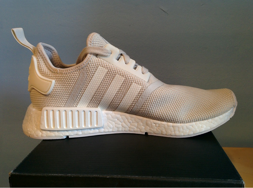 Cheap Adidas NMD R2 White Red CISMAI