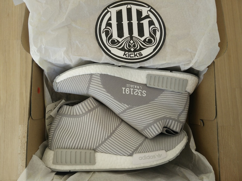 NMD City Sock 1 PK C1 Sock Black Blue White Sneaker sneakeruns