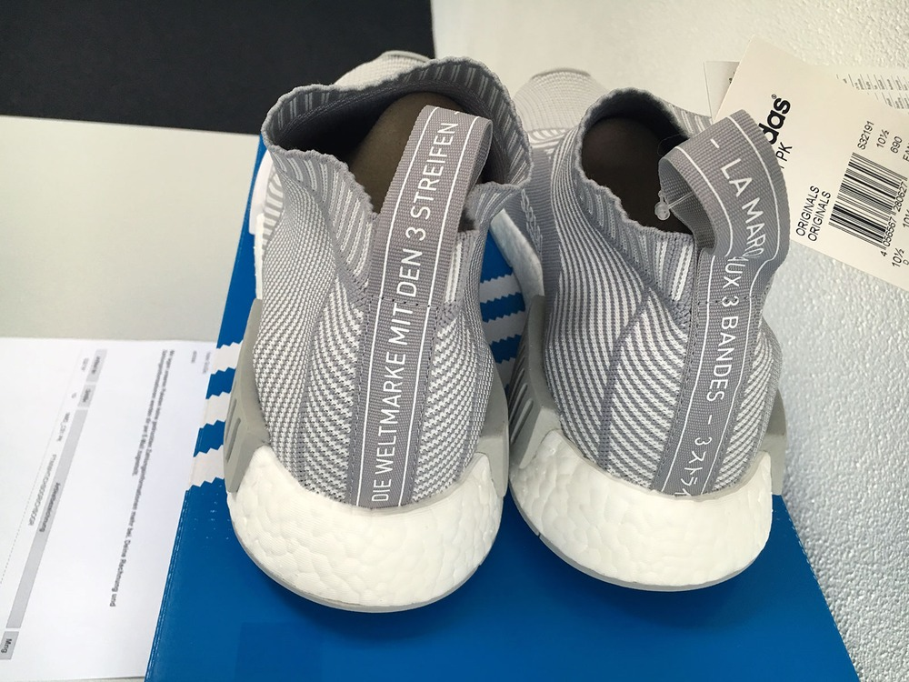 US11 Adidas NMD City Sock CS1 CS-1 Primeknit PK White Silver Solid Grey S32191 - photo 3/9