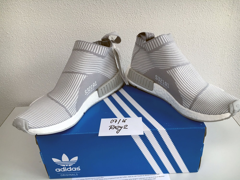 US11 Adidas NMD City Sock CS1 CS-1 Primeknit PK White Silver Solid Grey S32191 - photo 6/9